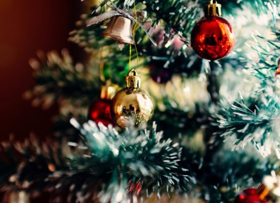 Christmas tree and baubles - leading you right into Christmas with minimal stress and maximum enjoyment