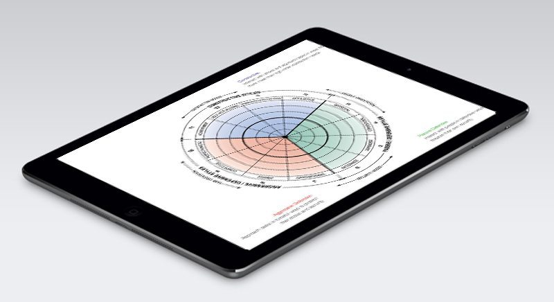 iPad showing an example of Corporate Edge's tailored survey tools to deliver insights about an organisation's health.