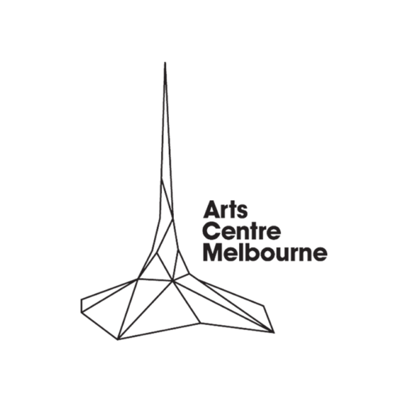 Black logo of Arts Centre Melbourne