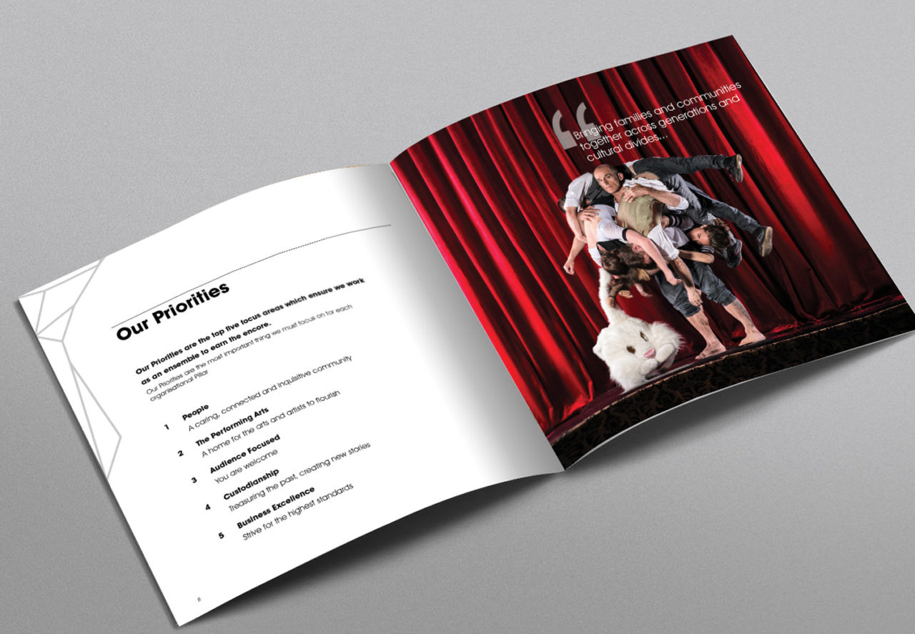 Booklet of Arts Centre Melbourne - A client who has successfully captured their culture
