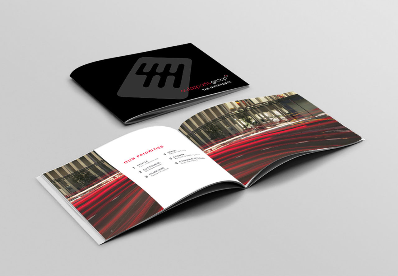 Booklet of Autosports Group - A Corporate Edge client who has captured their company culture