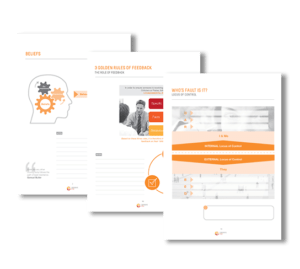 An example of the participant workbooks that Corporate Edge provides to capture participant's experience. These workbooks are used to offer self-reflection and self-assessment to guide personal development - Blended Learning Solutions for Corporate Coaching