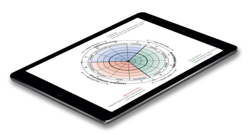 iPad with the products overview page on screen - part of Corporate Edge's surveys and analytics tool
