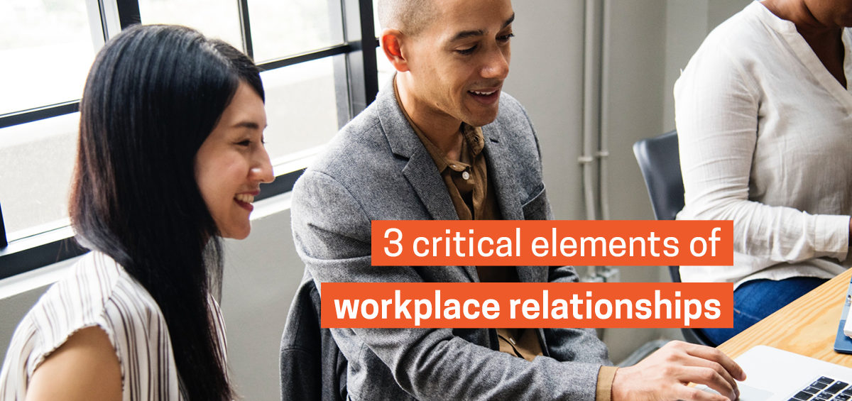 Colleagues in a corporate meeting to demonstrate that strong workplace relationships is a crucial element of building a successful company culture.